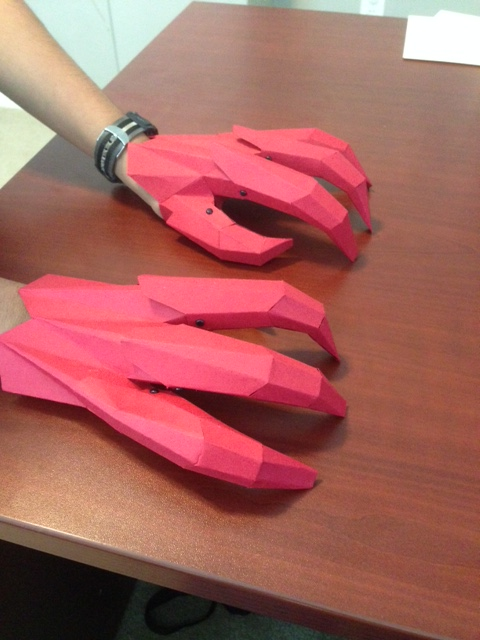 How to make Paper Dragon Claws - Paper Claws - YouTube   640x480